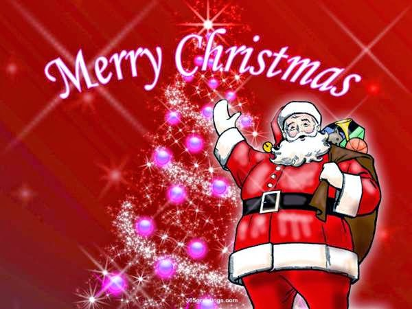 Merry Christmas Day wishes santa caluse photo