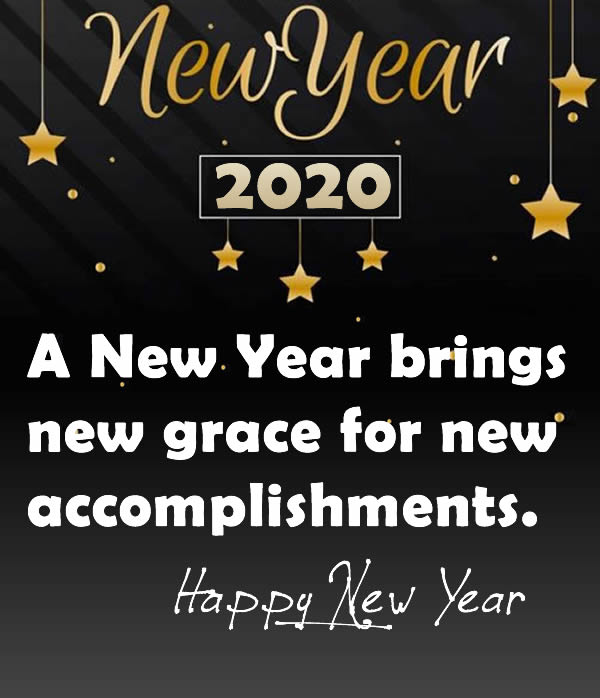 Happy new year 2020 Message Image