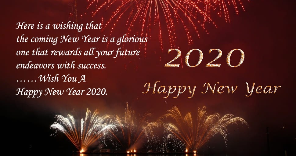 Happy New year 2020 wishes photo
